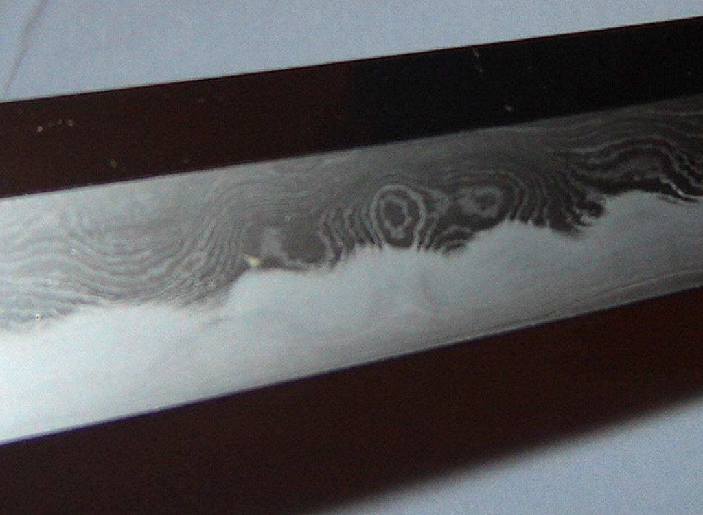 Folded Steel Katana Alternating Layers