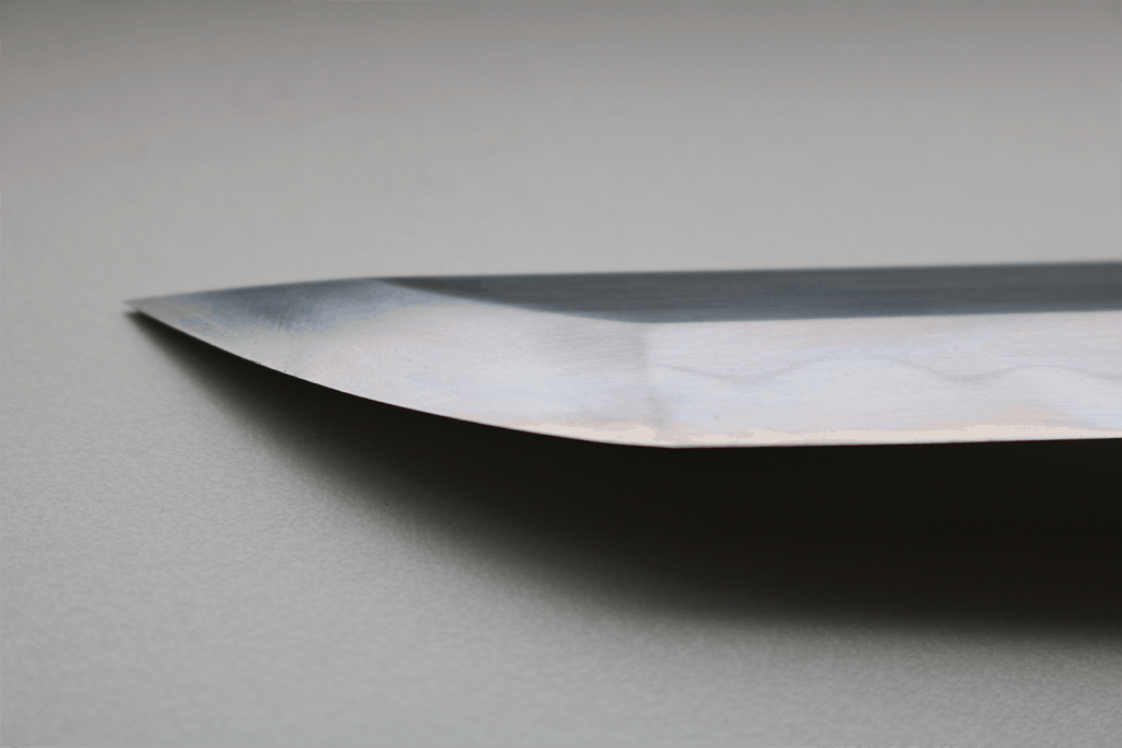 Katana blade with hamon